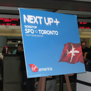 Launching service to Toronto