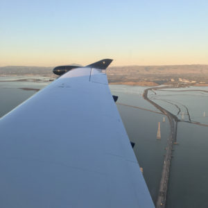 Flying over Dumbarton Bridge