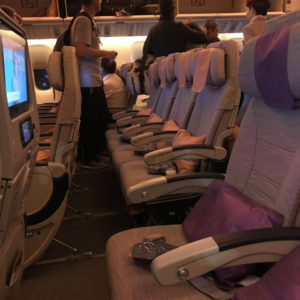 Emirates B777-300ER Economy Row 18