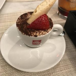 Tiramisu espresso cup