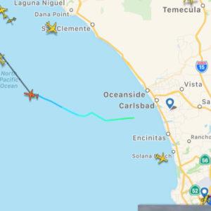 Inbound Plane from CLD