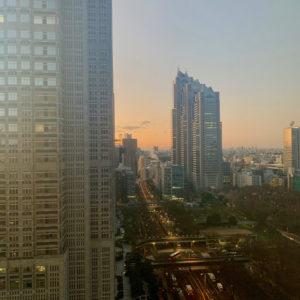 Sunrise from Hyatt Regency Tokyo