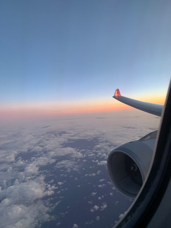 Sunset from 35,000 ft