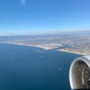 LA during takeoff